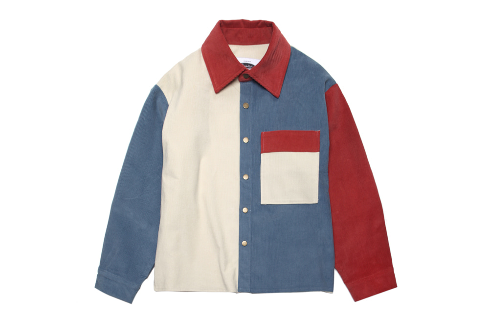 11's Corduroy Mix Shirts-Jacket (ivory)