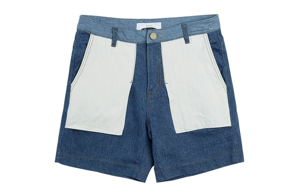 Inside-out Denim Shorts (denim)