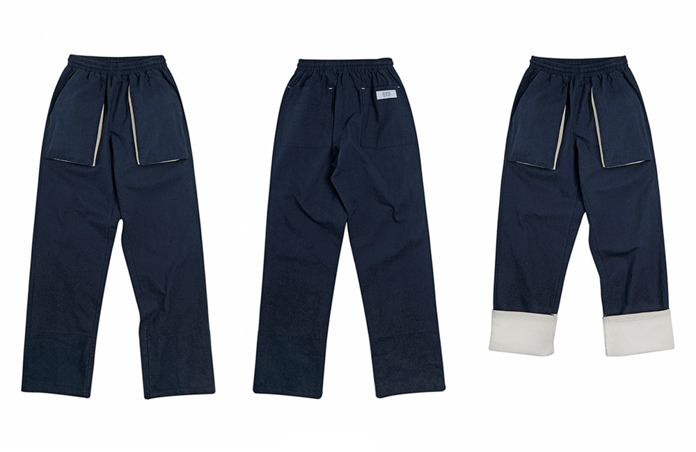 Fisher-man Rollup Easy Pants (navy)