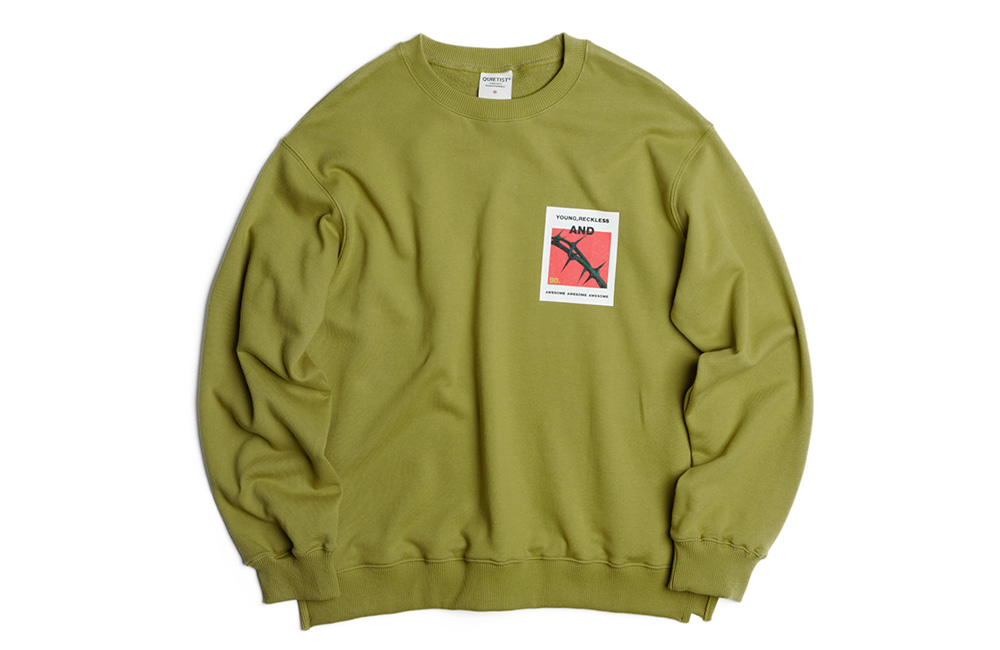 Short Spiny Sweat-Shirts (olive)