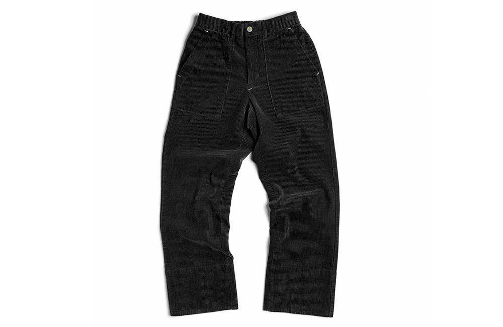 8's Corduroy Fisher-man rollup pants (black)