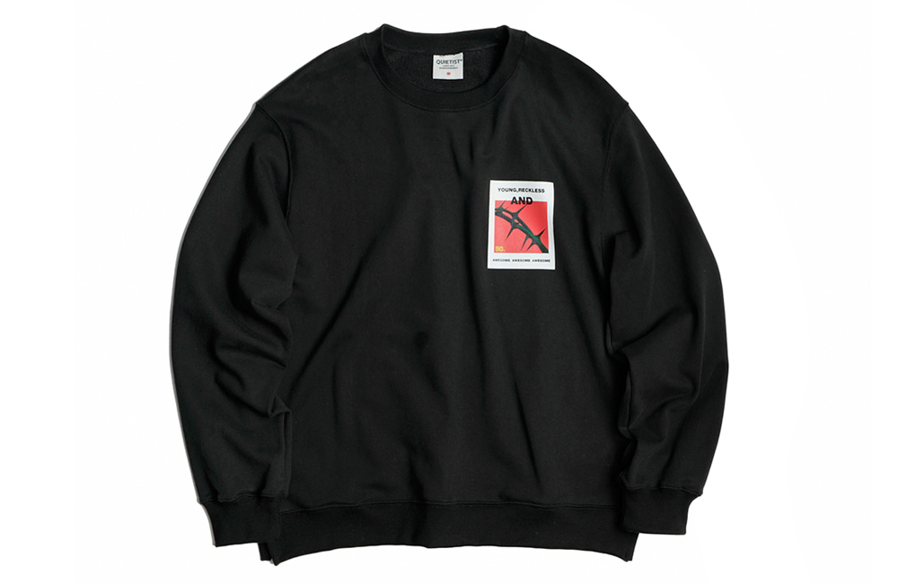 Short Spiny Sweat-Shirts (black)