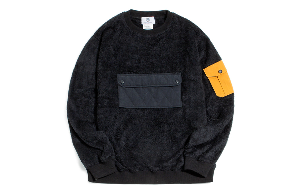NEO Quilted Fleece Crew-neck (black)