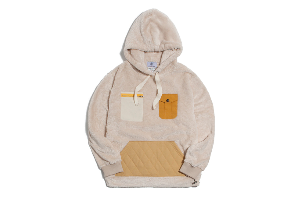 NEO Quilted Fleece Hood (ivory)
