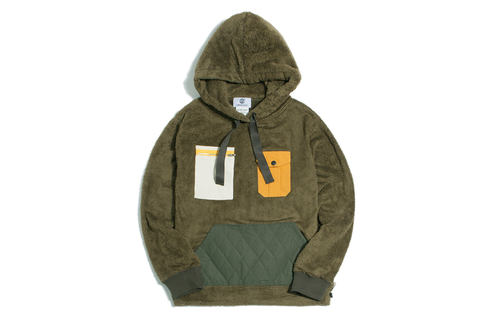 NEO Quilted Fleece Hood (olive)