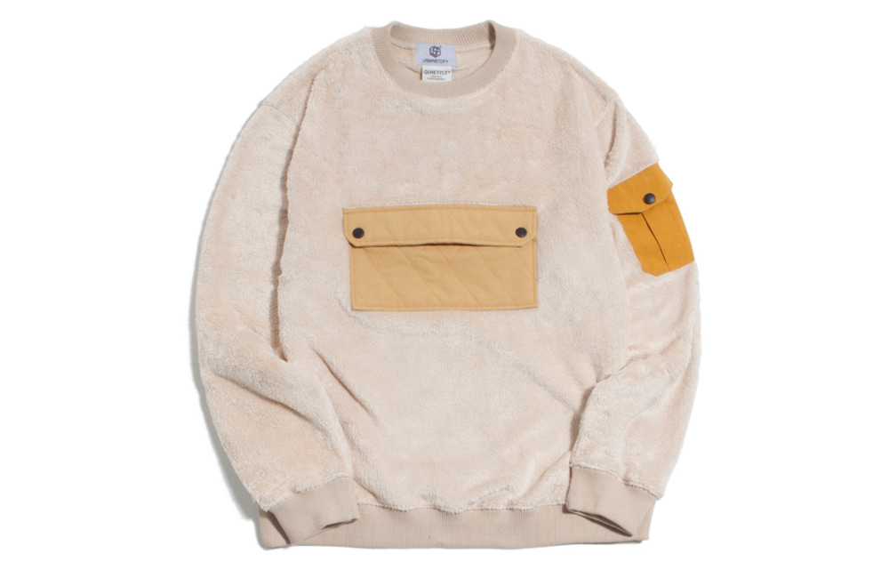 NEO Quilted Fleece Crew-neck (ivory)
