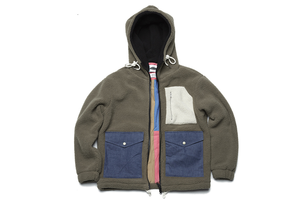 Heavy Fleece Zip-up Parka (gray)