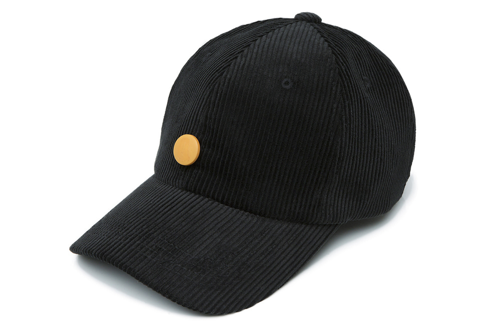 8s Corduroy Detachable Ball-cap (black)
