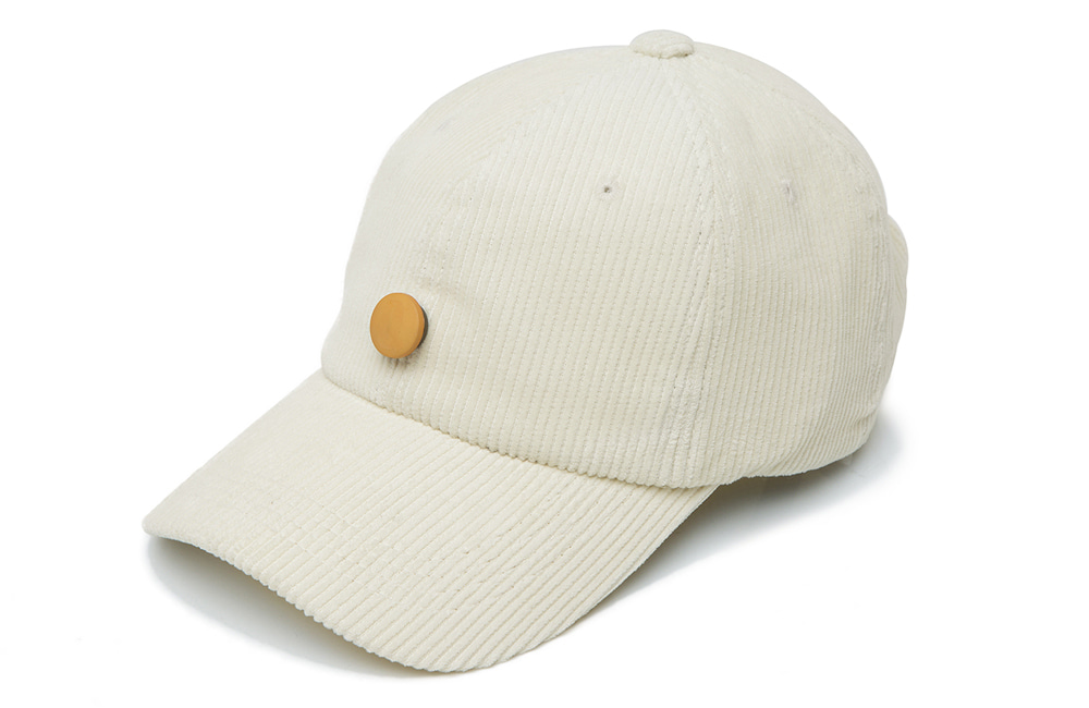 8s Corduroy Detachable Ball-cap (ivory)