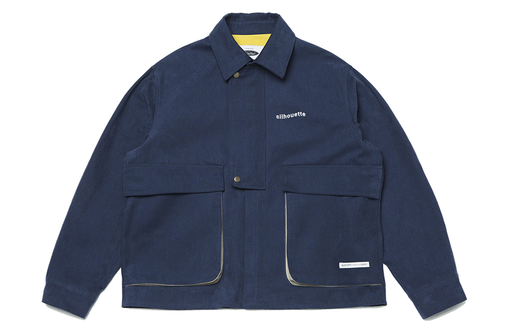 Peach Skin Cover-all Jacket (navy)