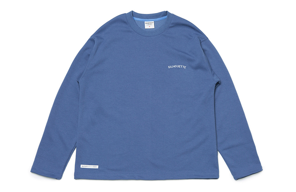Silhouette Plain Crew-neck (teal)