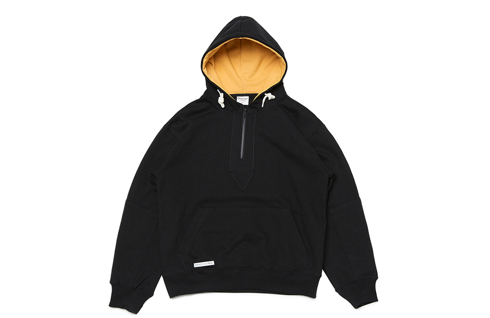 Disco Patch Zipper Hood(black)