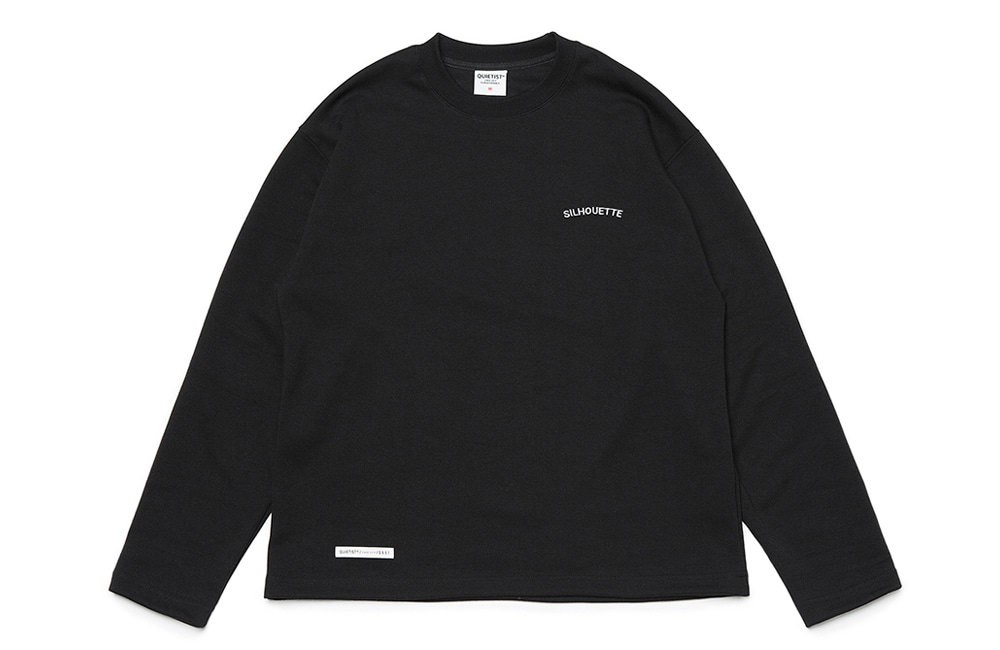 Silhouette Plain Crew-neck (black)