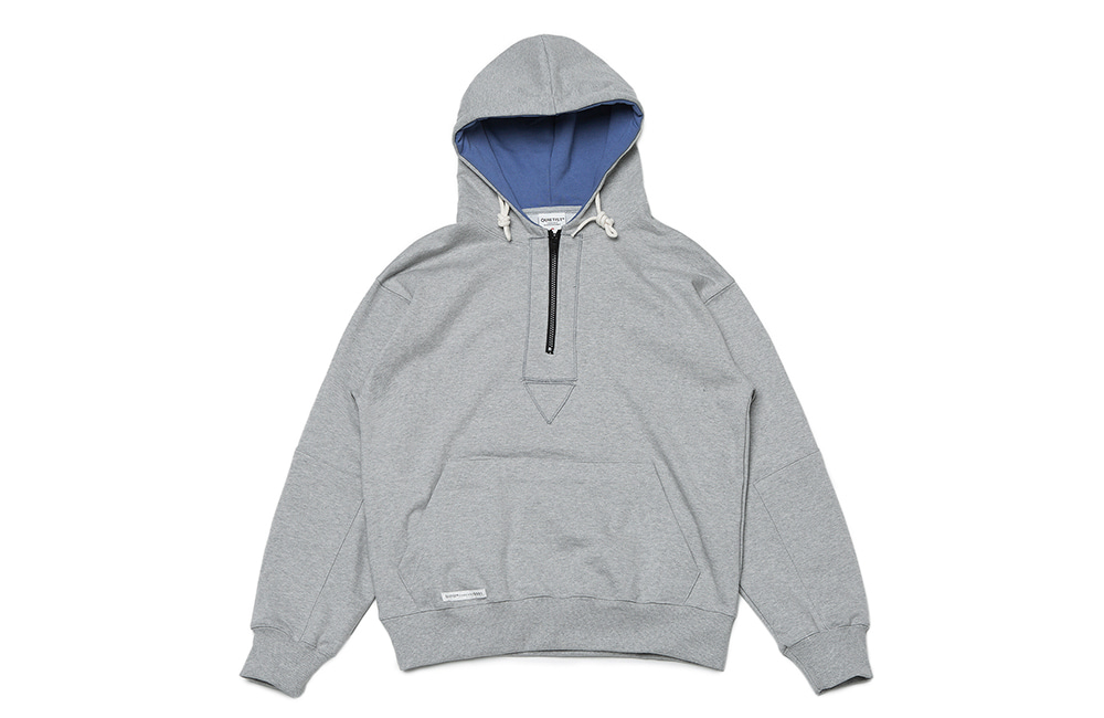 Disco Patch Zipper Hood(gray)