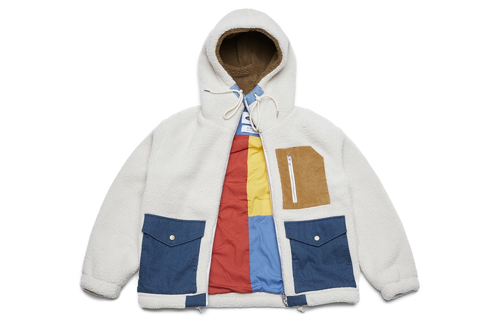 Heavy Fleece Zip-up Parka (ivory)