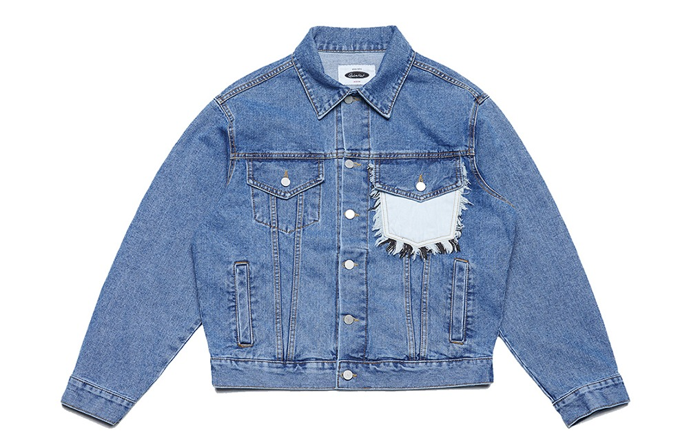 Two-tone Denim Trucker Jacket (pale)