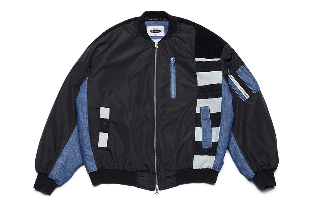 Washed Mix MA-1 Jacket (black)